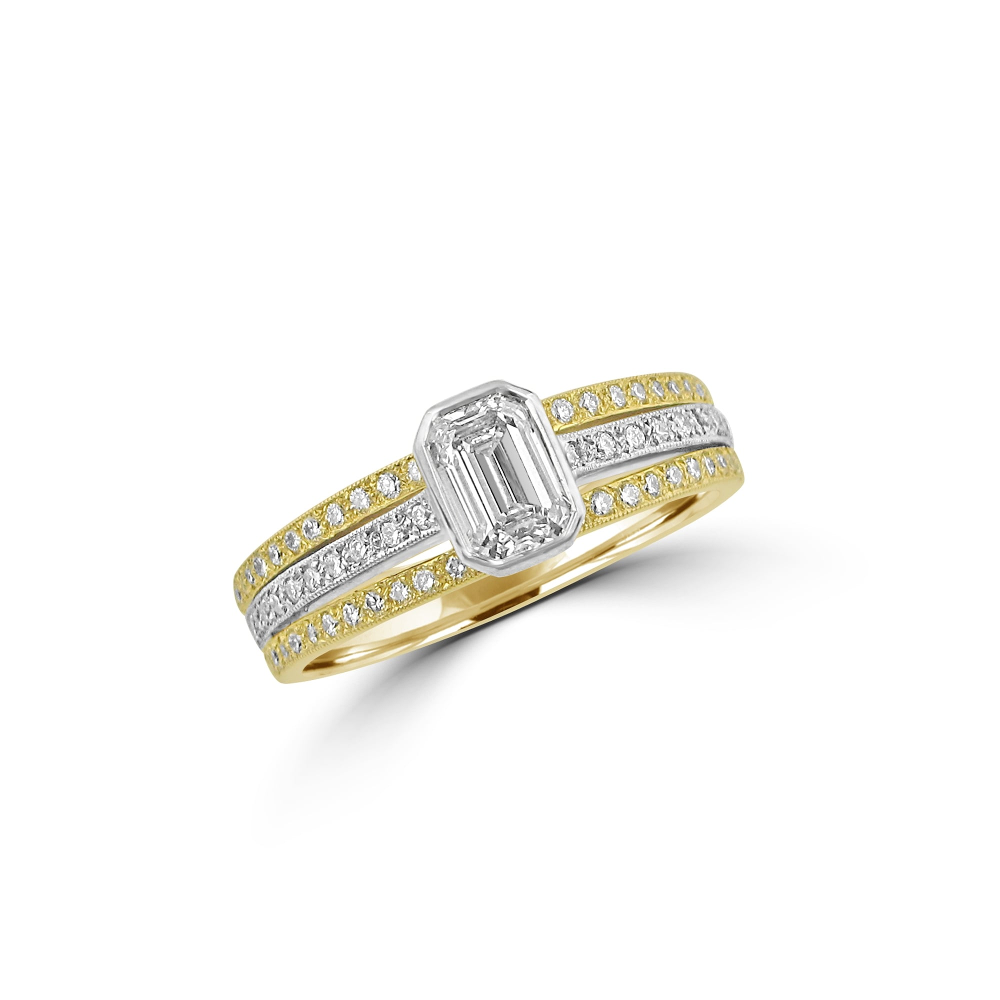 ring rings band solitaire engagement two sets split