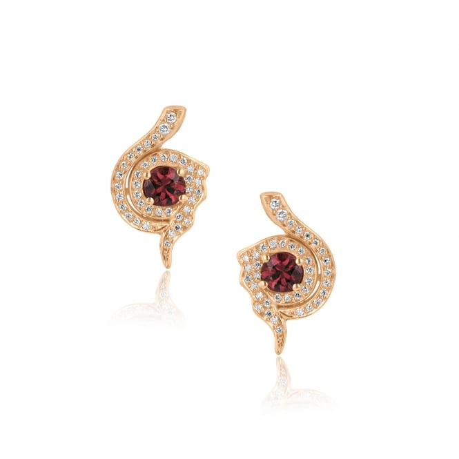 Avanti Unique Red Sapphire and Diamond Earrings