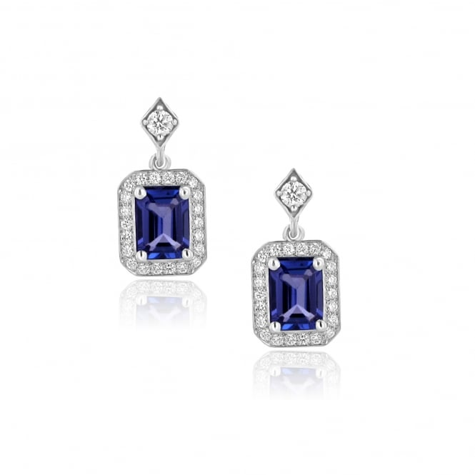 Avanti White Gold Tanzanite and Diamond Drop Earrings EWD36218