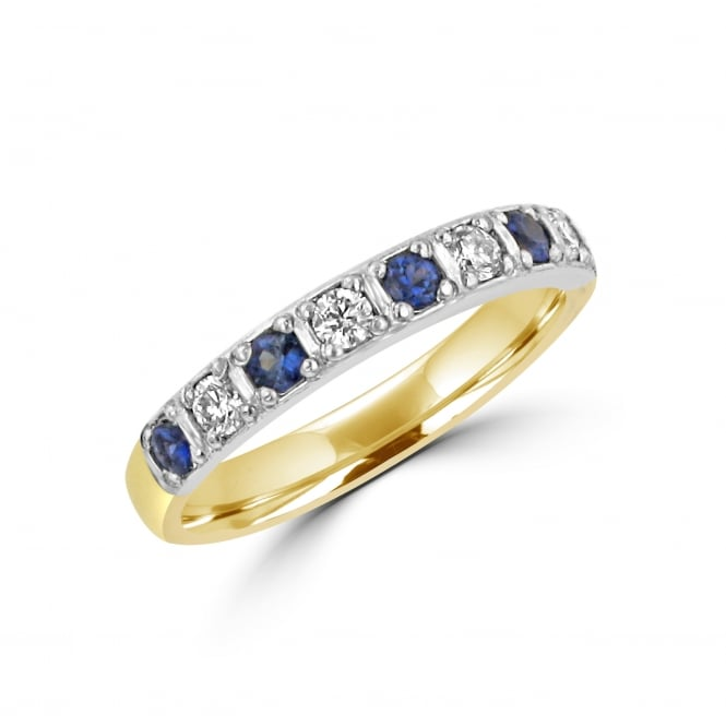 Avanti Yellow and White Gold Sapphire and Diamond Ring