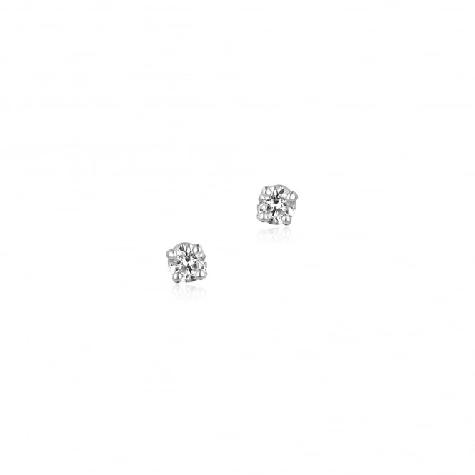 Classic 18ct White Gold 0.30ct Round Diamond Stud Earrings