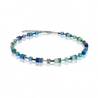 Coeur De Lion Steel Blue-Green necklace With Synthetic Tigers Eye