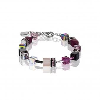 Steel Pink-Grey Bracelet With Polaris and Haematite