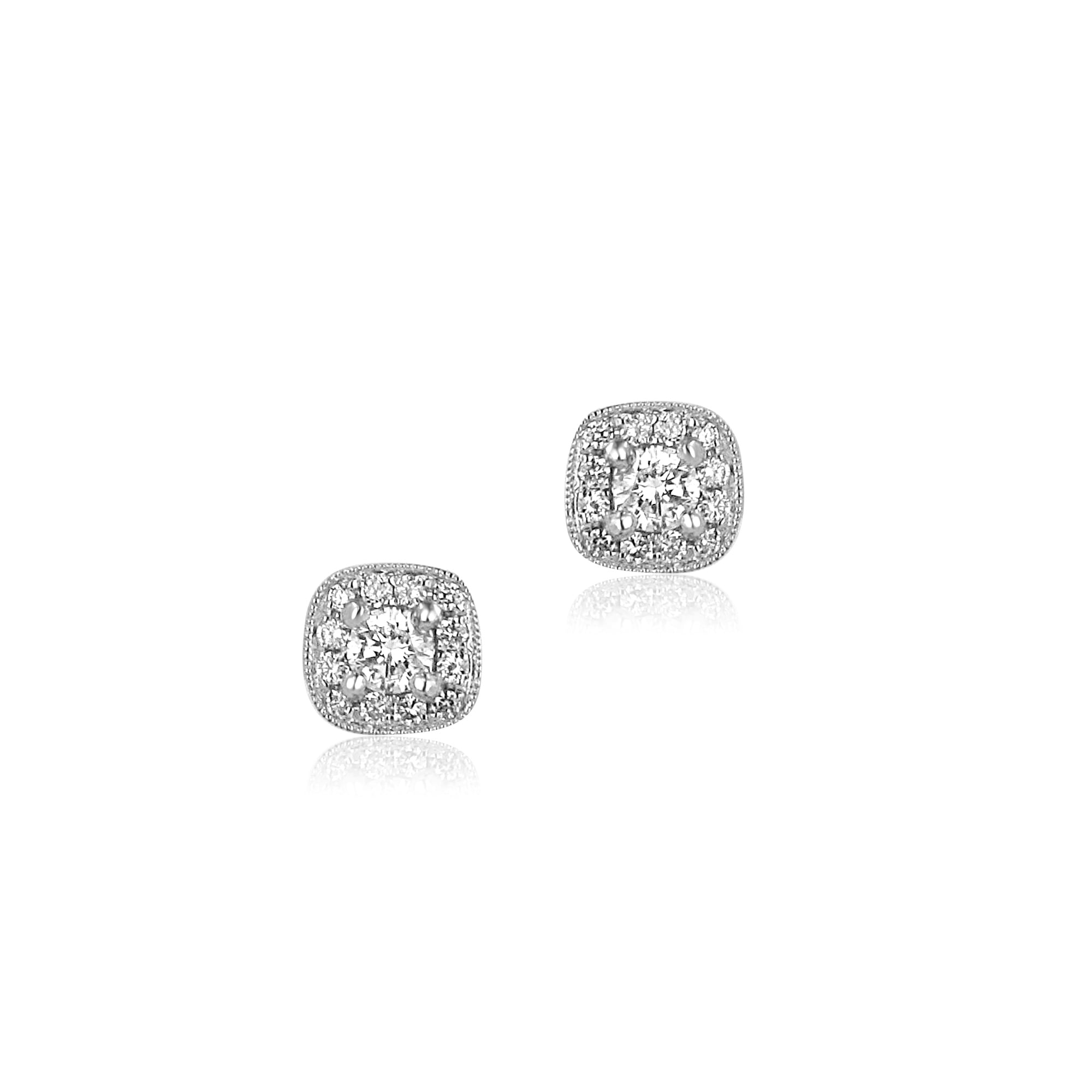 in earrings stud jewellery tw gold white diamond