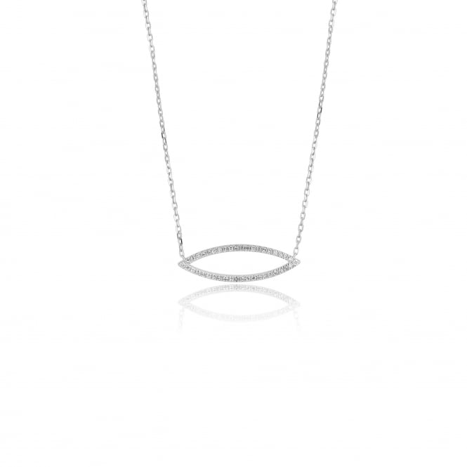 Delicate 18ct White Gold Diamond Necklace 0.16ct