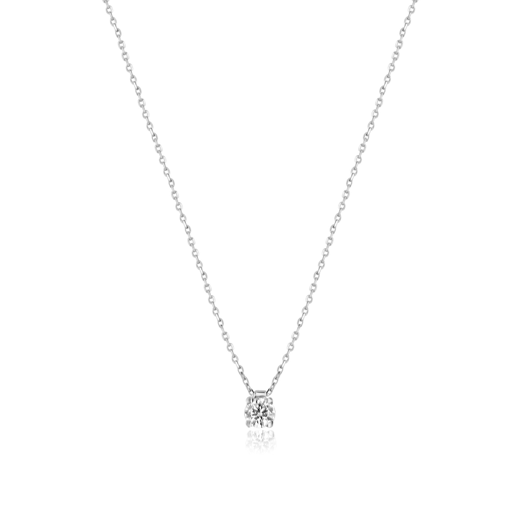 e11375d2b2bc3b Delicate Necklace With a 0.30ct Round Diamond - Womens from Avanti of  Ashbourne Ltd UK