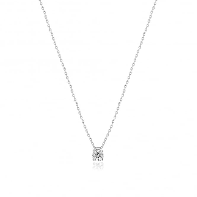 Delicate Necklace With a 0.30ct Round Diamond