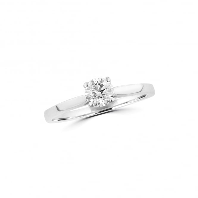 Delicate Platinum 0.40ct Round Diamond IGI Certified Solitaire Engagement Ring RPN36499