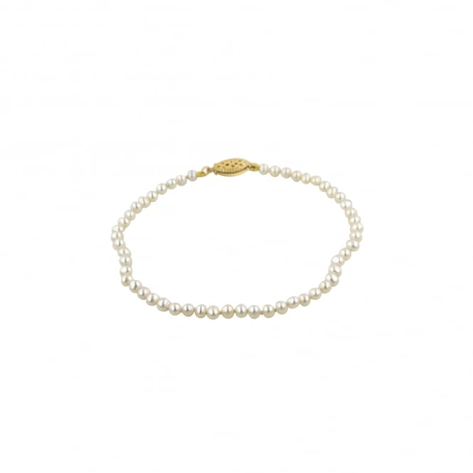 Delicate White/Cream Freshwater Cultured Pearl Bracelet BY3165