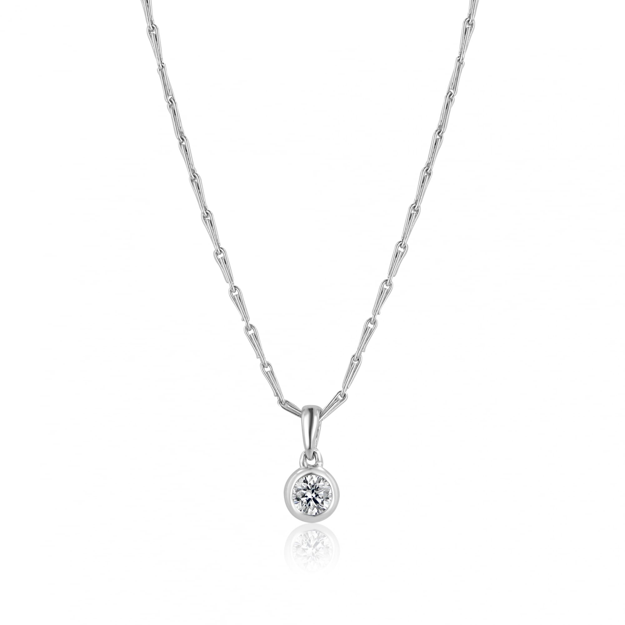 84ce00ae07d1c6 Delicate White Gold Solitaire Diamond Pendant - Womens from Avanti of  Ashbourne Ltd UK