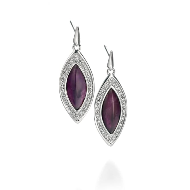 Fiorelli Amethyst and Cubic Zirconia Earrings E5003M
