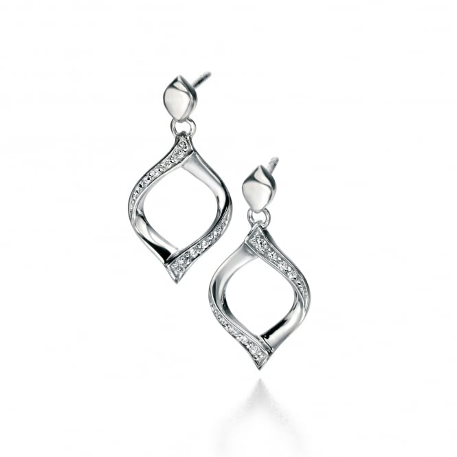 Fiorelli Silver Cubic Zirconia Drop Earrings E5088C