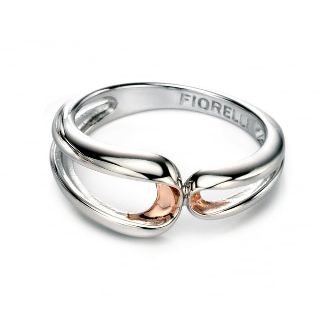 Fiorelli Silver Double Loop Ring R3408