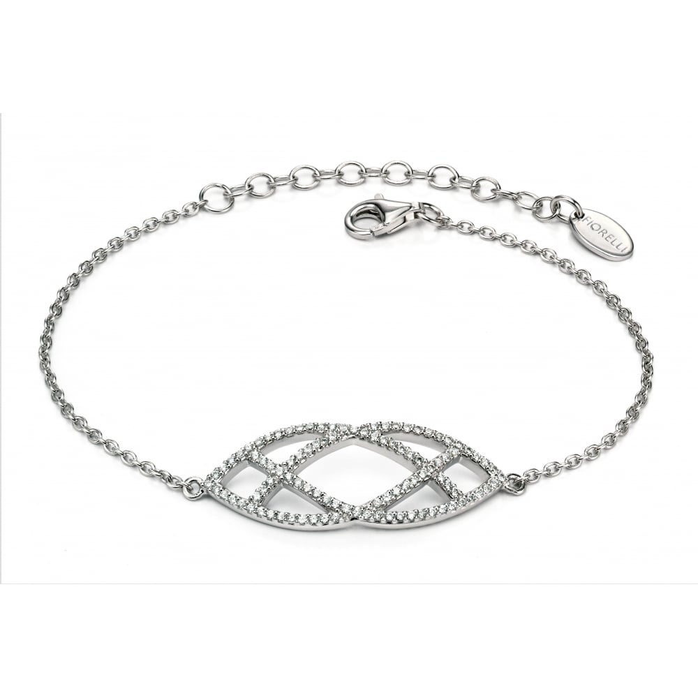 and alternative a cubic bracelet diamond cz bridal thomas laine zirconia graduated the in is cushion sterling our silver featured cut lucille