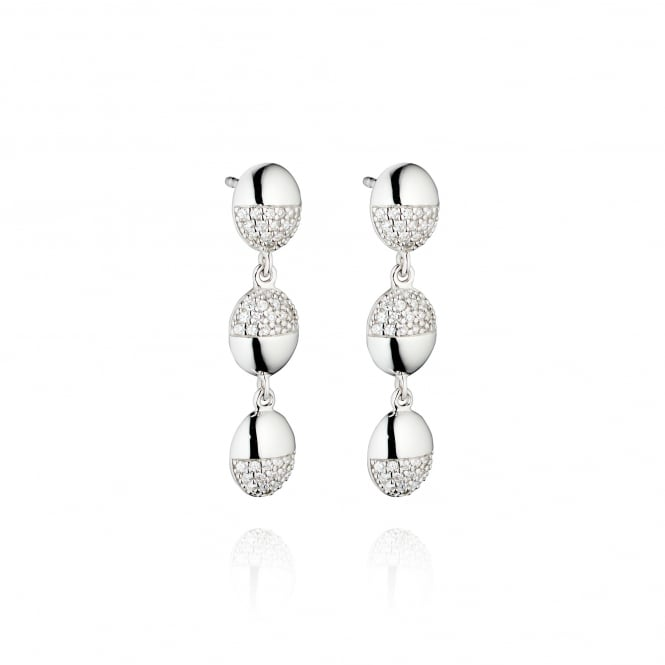 Fiorelli Silver Drop Earrings With Cubic Zirconias E5198C