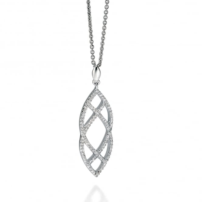 Fiorelli Silver Open Double Marquise Cubic Zirconia Necklace P4235C