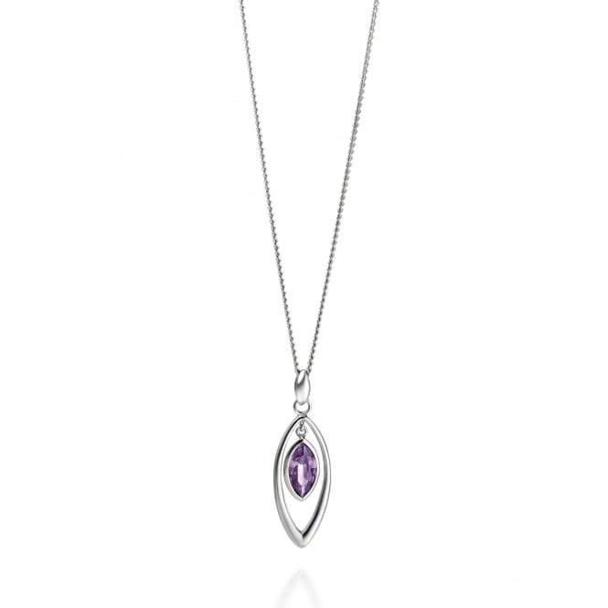 Fiorelli Silver Purple Cubic Zirconia Necklace P3093M