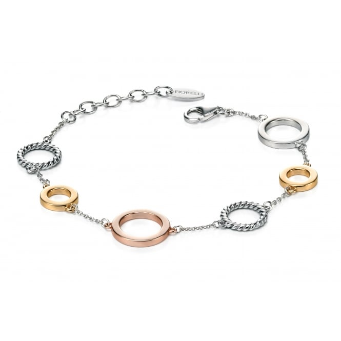 Fiorelli Three Colour Multi Circle Bracelet B4721