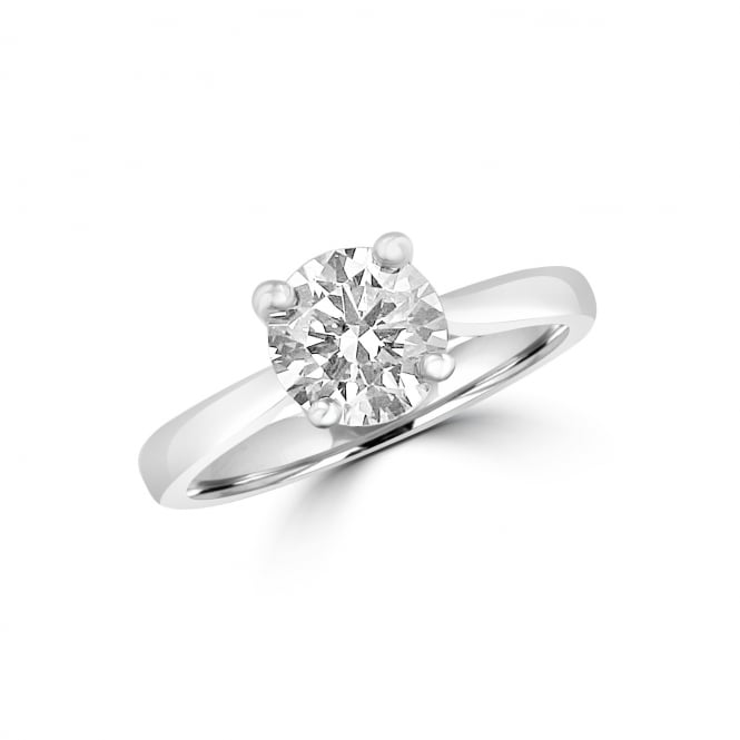 GIA Certified 1.28ct Round Diamond Platinum Solitaire Engagement Ring
