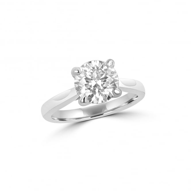 GIA Certified 2.01ct Round Diamond Solitaire Ring