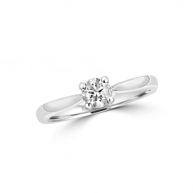 GIA Certified Triple Excellent Diamond Solitaire Ring