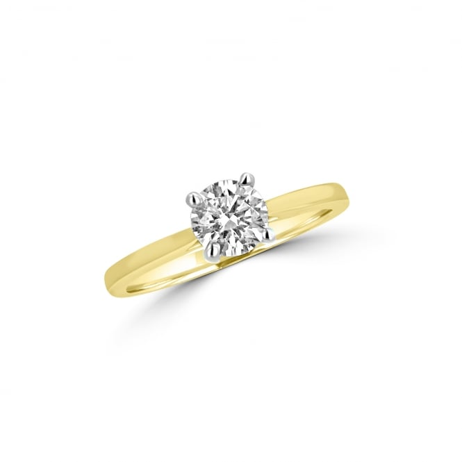 GIA Yellow Gold 0.70ct Round Diamond Solitaire Engagement Ring