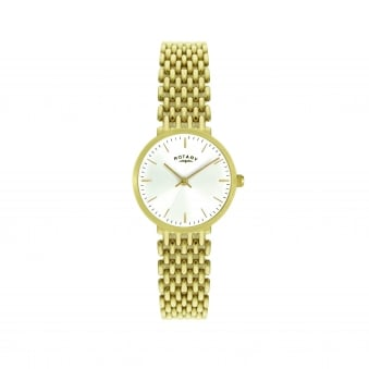 Gold Plated Womens Rotary Watch