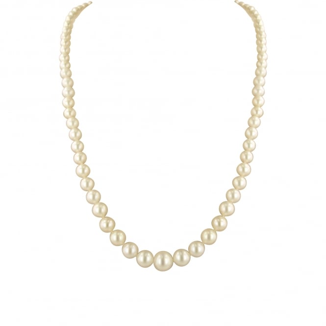 "Graduated 18"" Cream Pearl Necklace"