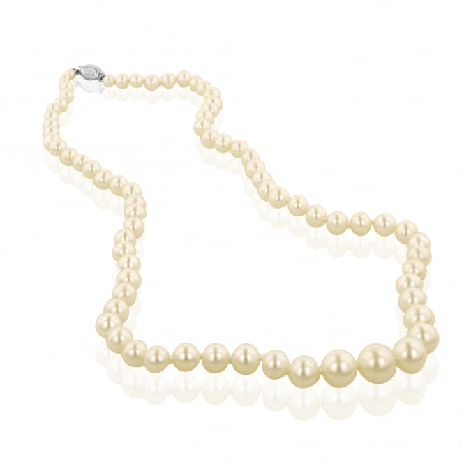 Graduated White Pearl Necklace NY3710