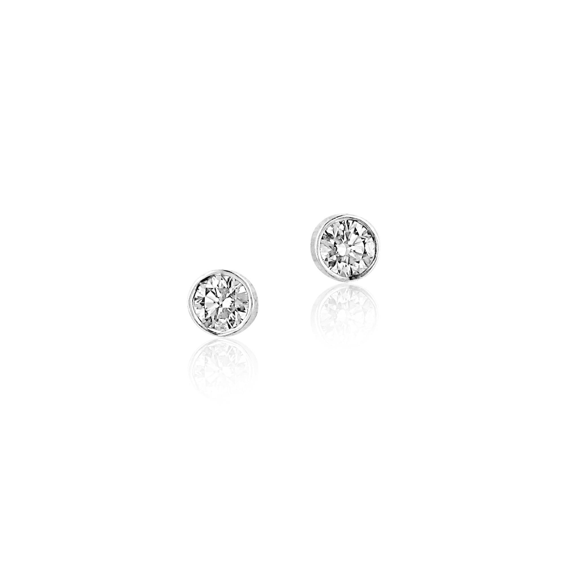 jewellery diamond round earrings graff classic collections stud