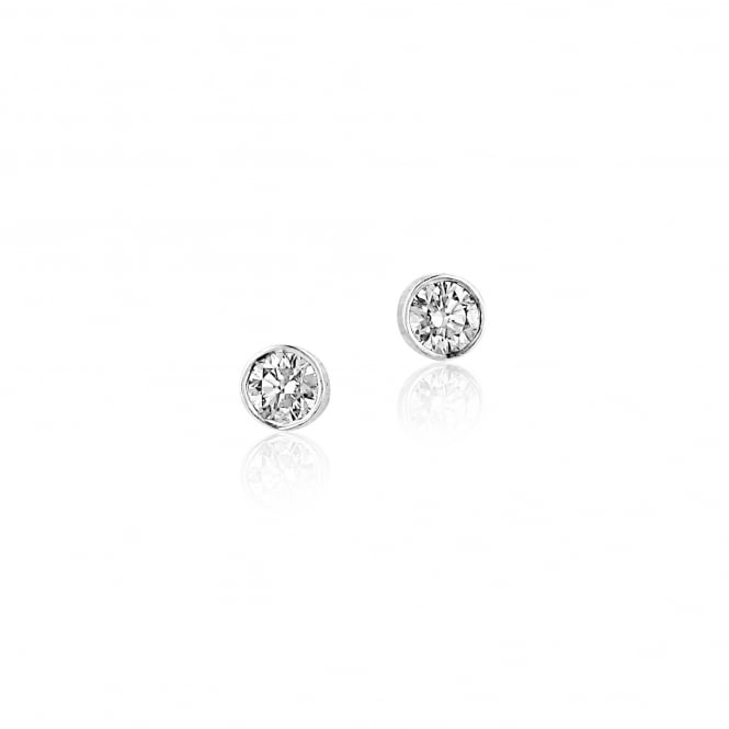 Half Carat Diamond Stud Earrings in 18ct White Gold