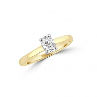 Half Carat Oval Diamond Solitaire Engagement Ring