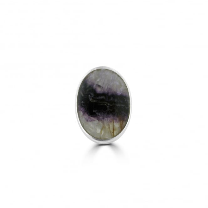 Blue John Large Silver Oval Ring