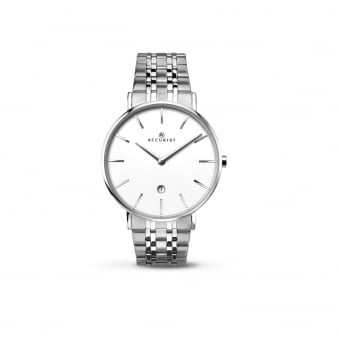 Mens Classic Steel Accurist Watch With Round Dial 7129