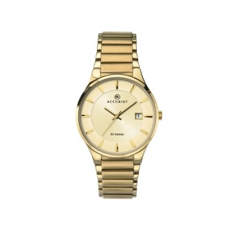 Mens Gold Plate Accurist Watch 7008