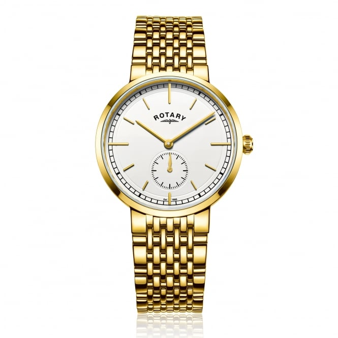 Rotary Mens Gold Plated Watch