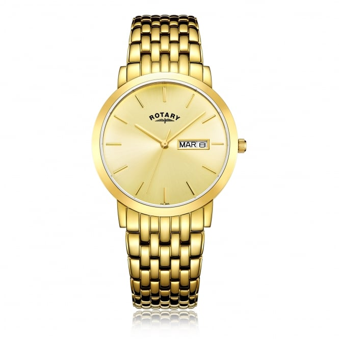 Rotary Mens Gold Plated Windsor Watch