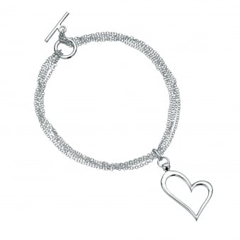 Multi Strand Heart Bracelet BS292