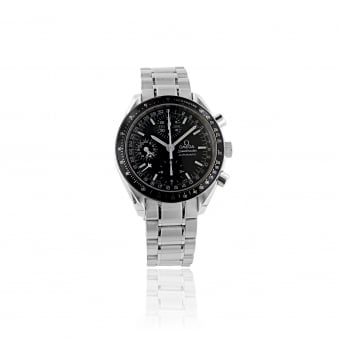 Pre-owned Mens Omega Speedmaster Watch With Black Dial