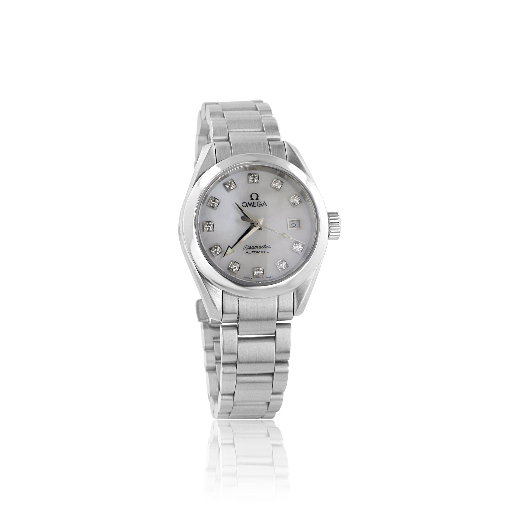 Pre-owned Womens Omega Seamaster Aqua Terra Diamond Dial Watch 3f783dbfec