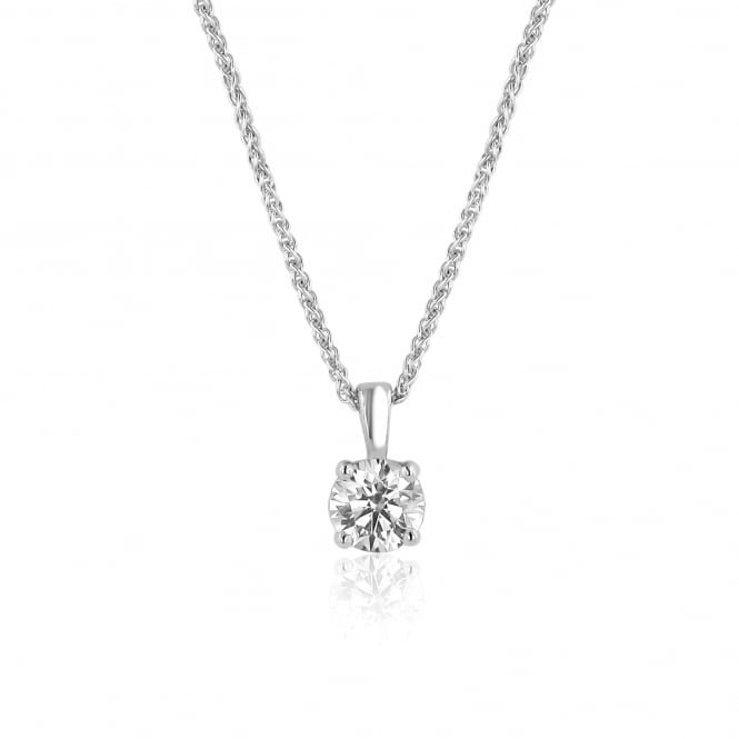 One Carat Diamond Necklace With a GIA Certified Diamond