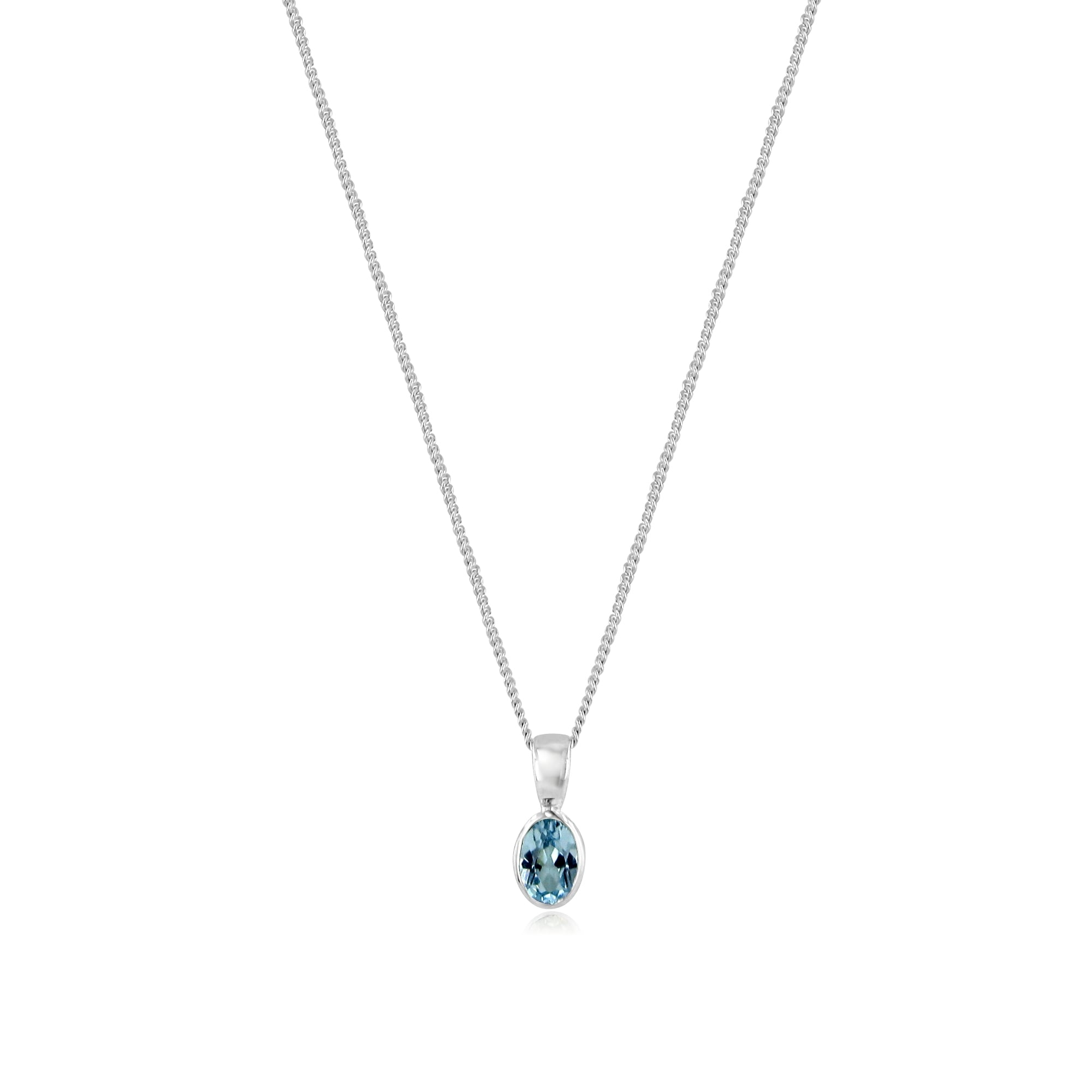 gabriel diamond necklace topaz silver blue sterling products jewelers bellman
