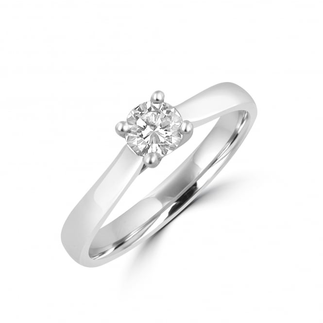 Platinum 0.35ct E VS2 GIA Round Diamond Engagement Ring