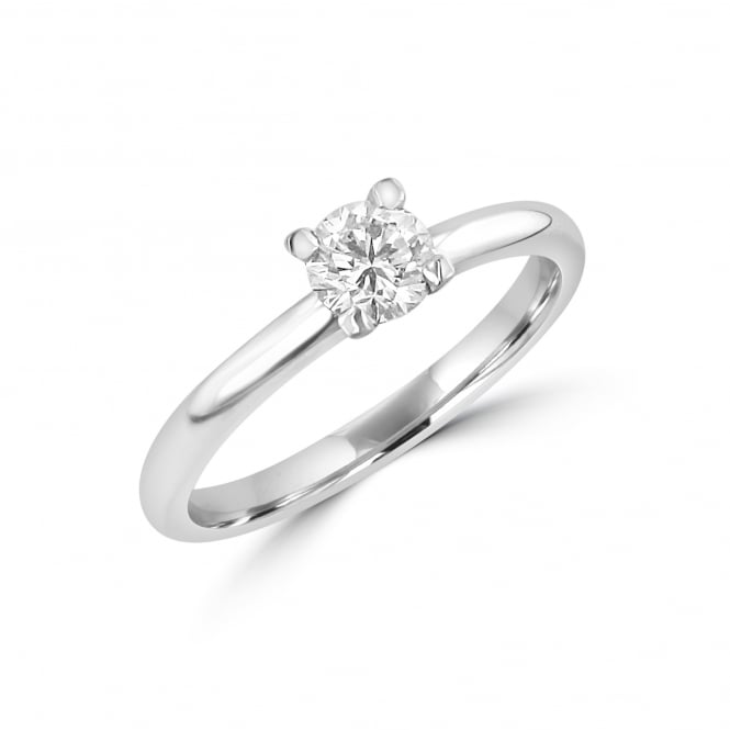 Platinum 0.43ct Round Brilliant Diamond Engagement Ring RPN2668