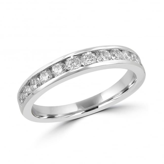 Platinum 0.69ct Diamond Eternity Ring RPT35421