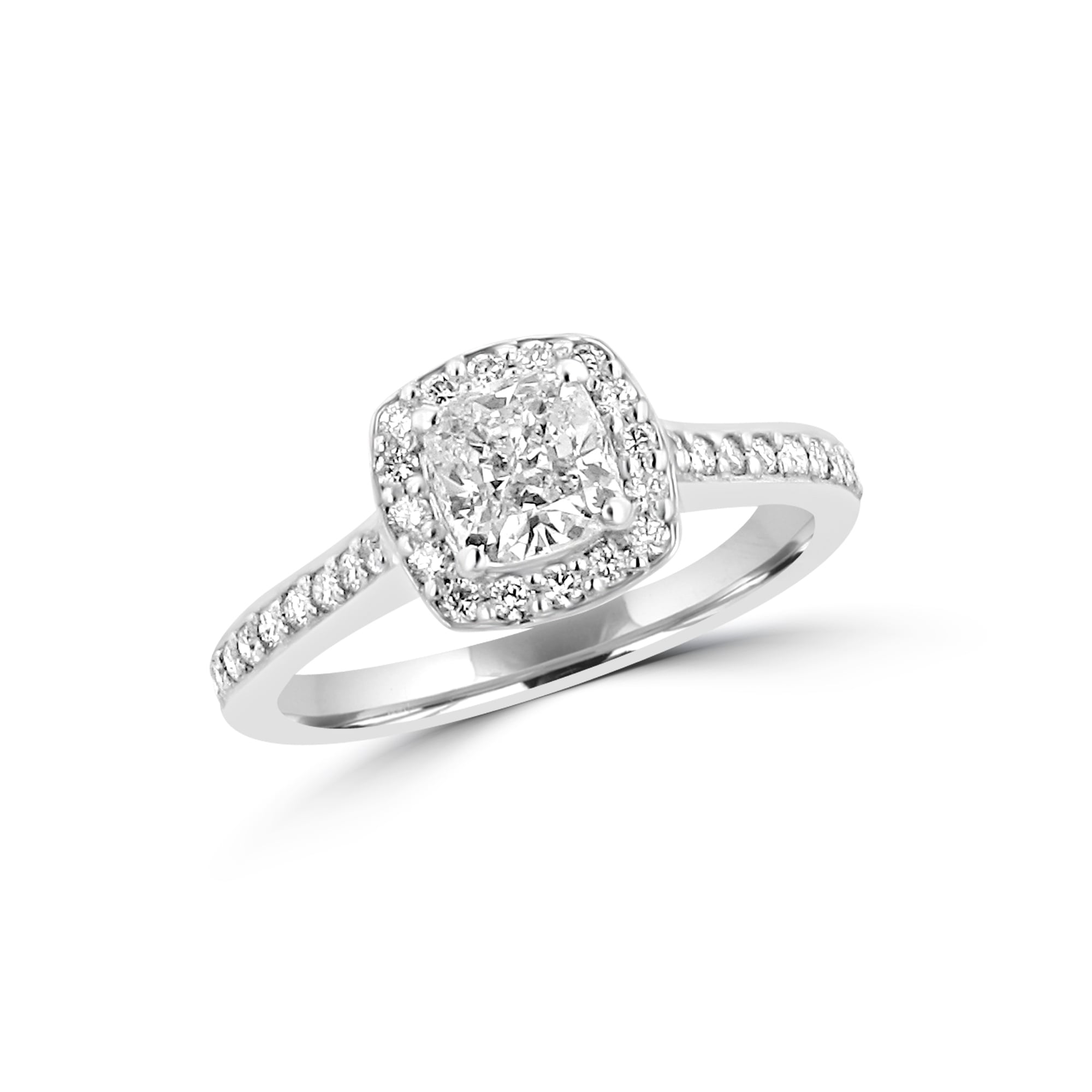 cushion cusion white diamond view cut ring engagement verona