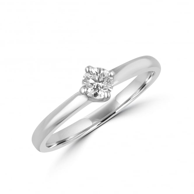 Platinum D Colour GIA 0.23ct Round Diamond Ring