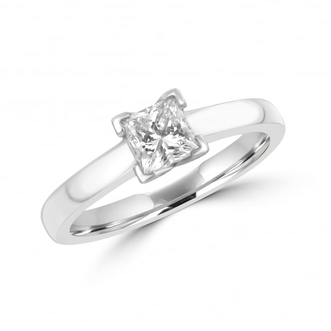 Platinum GIA 0.62ct Princess Diamond Engagement Ring RPN2896