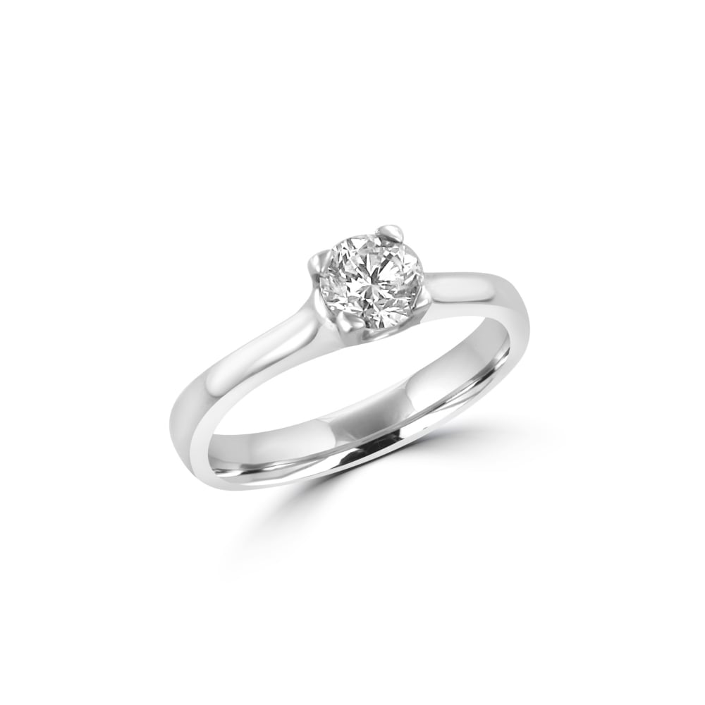 Half Carat Round Diamond Solitaire Ring