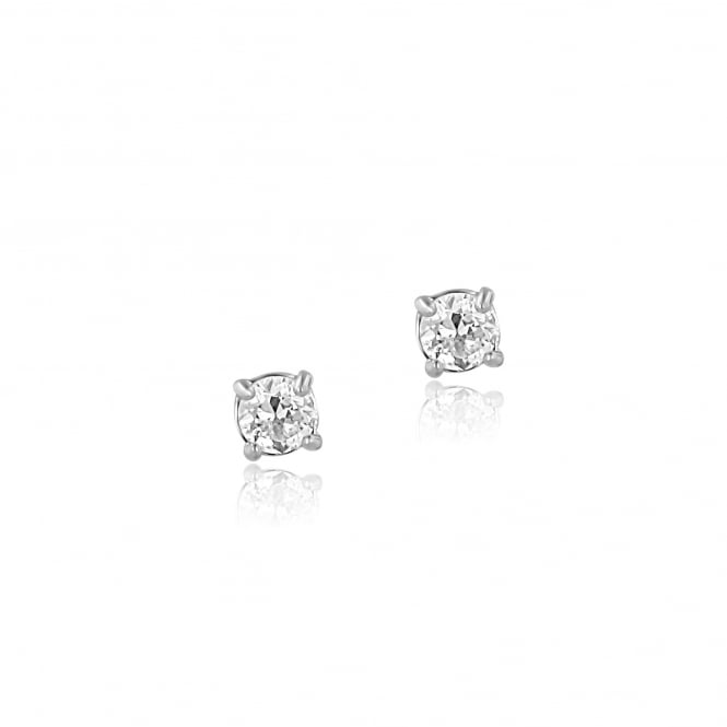 Pre-owned 0.70ct Round Diamond Earrings